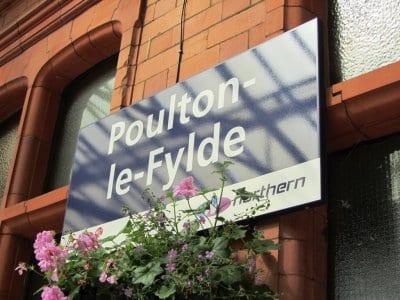 Poulton station sign