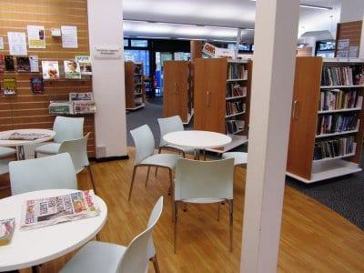 Inside Poulton library