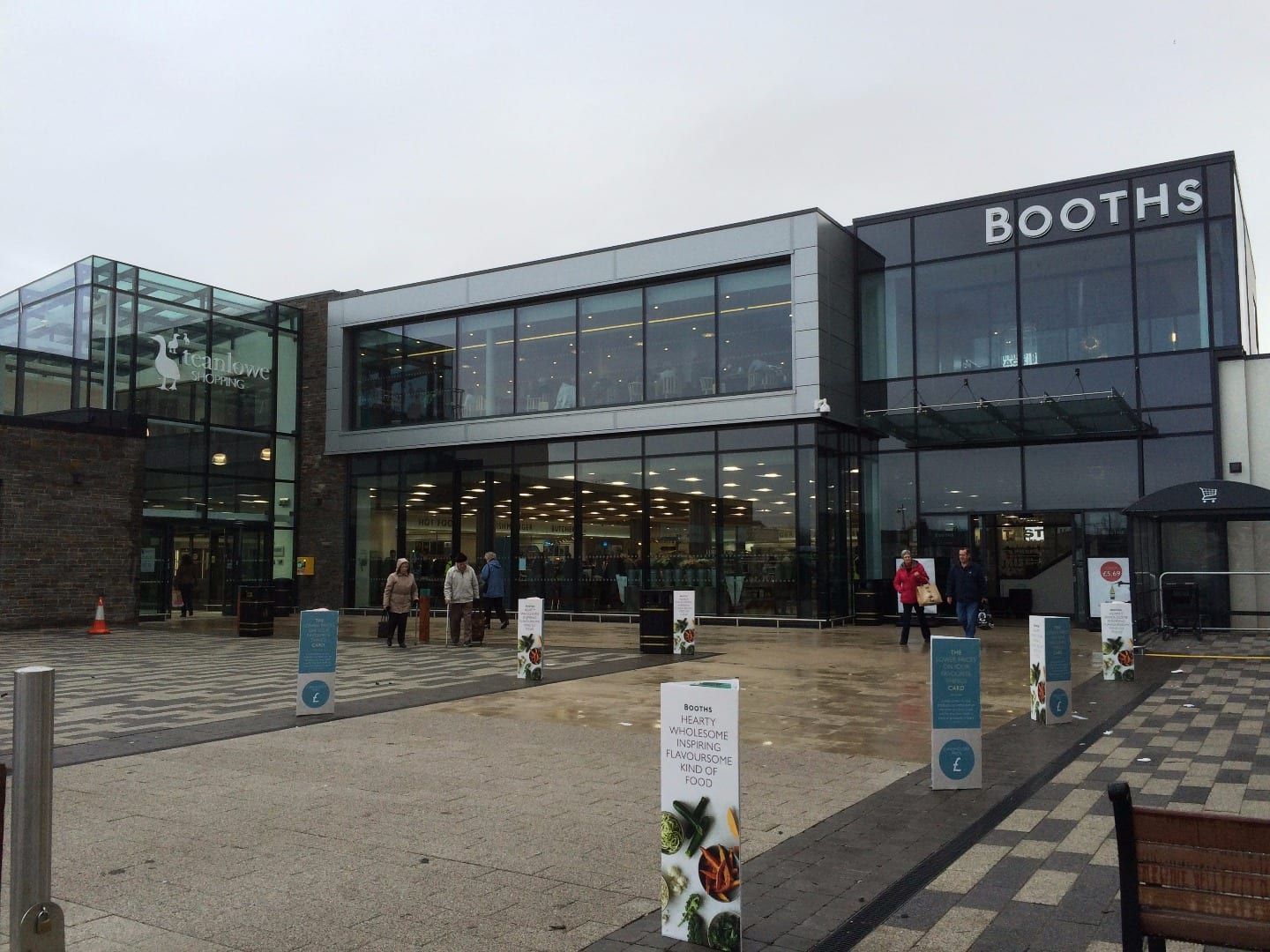 Booths at the Teanlowe Shopping Centre Poulton