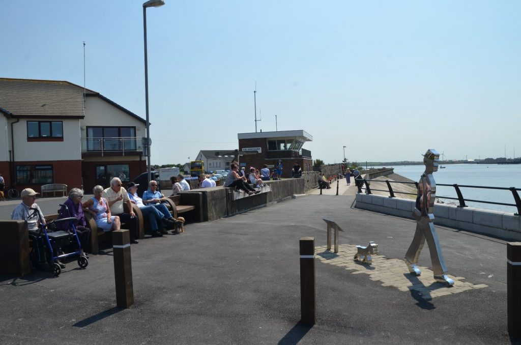 Knott End Ferry Point, cafe, RNLI and Coastguard station