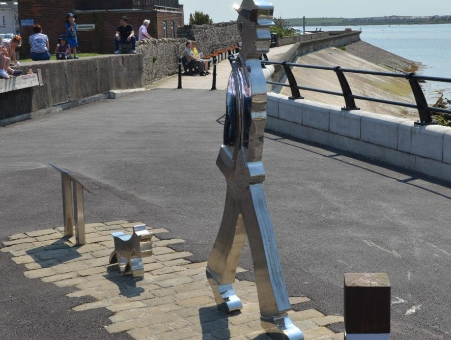 Lowry Statue at Knott End