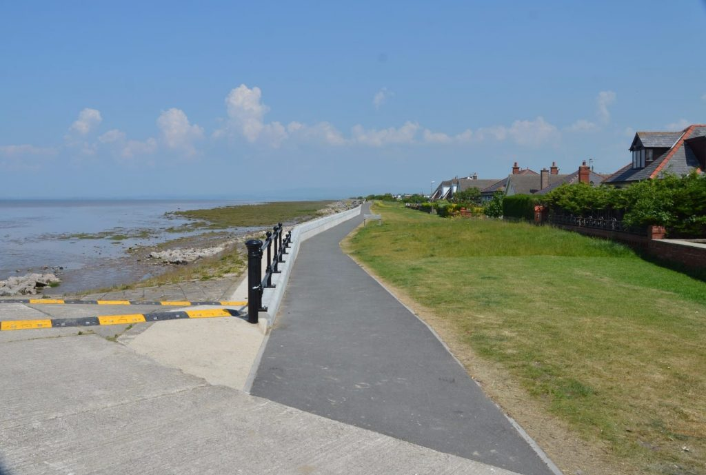 Knott End seafront footpath
