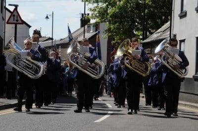 Poulton Gala, marching band