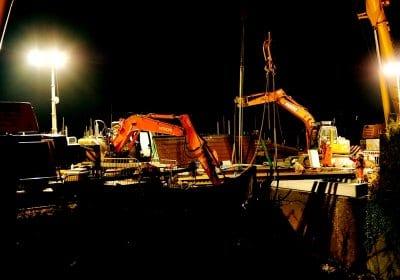 Construction of Railway Bridge at Tithebarn Street, Poulton