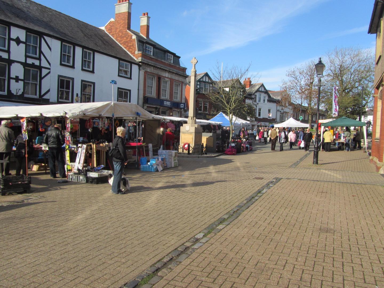 Market in Poulton town centre