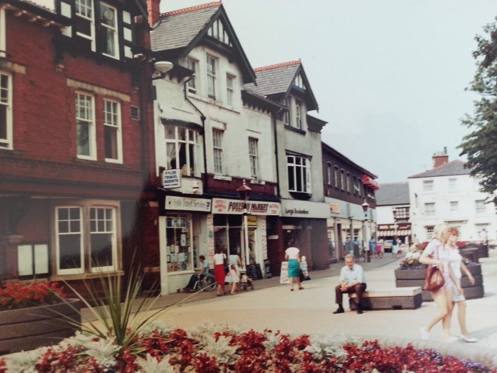 Old photo of Poulton Market Square
