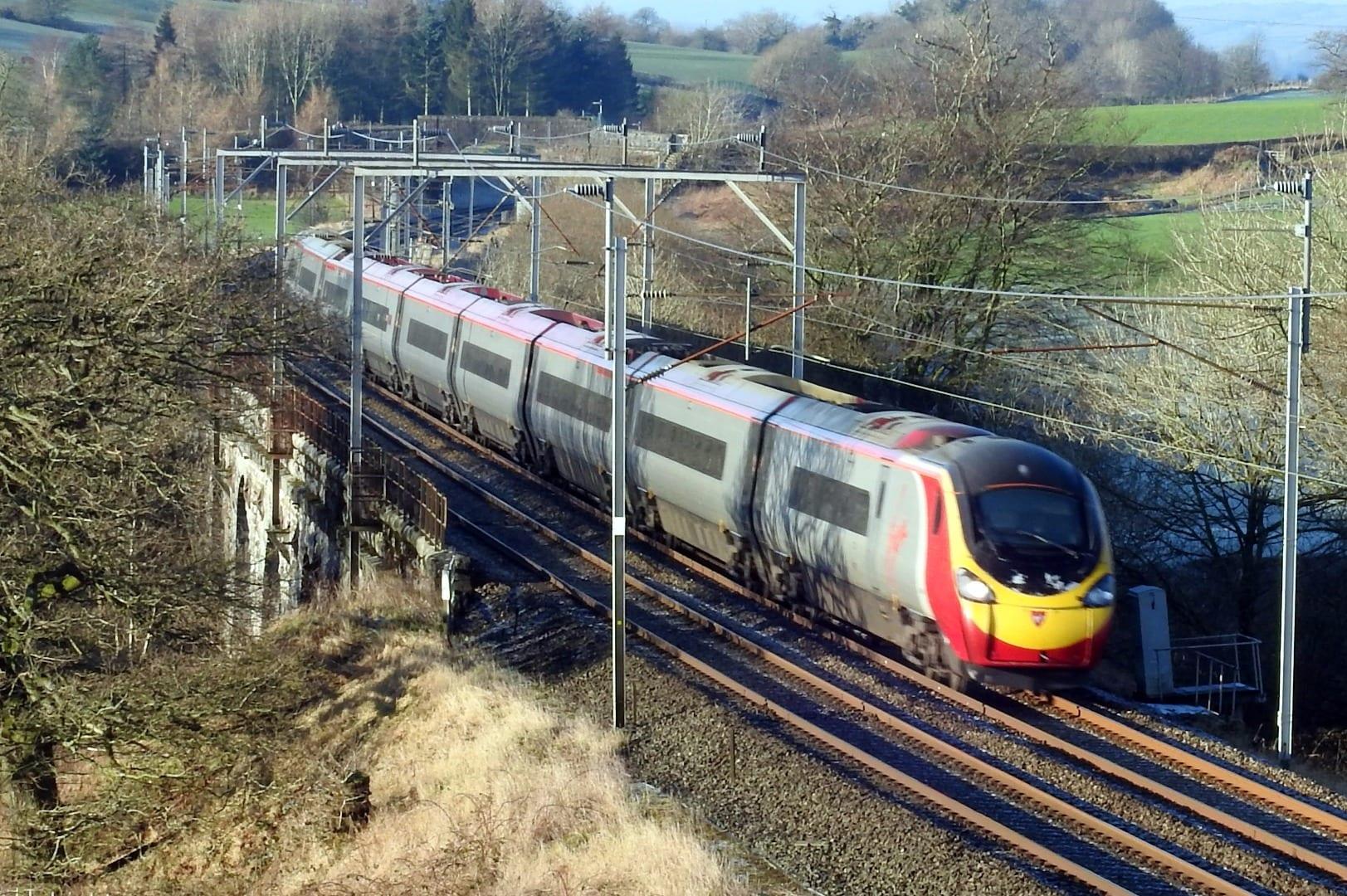 Pendolino electric train. Photo Barrie C Woods