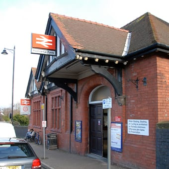 Railway station, just a short walk from Poulton town centre