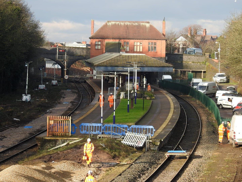 Poulton railway station, photo Barrie C Woods