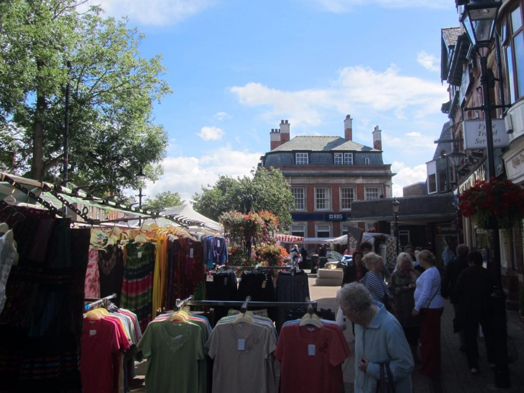 Weekly market in Poulton town centre
