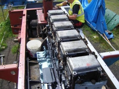 PWRS restoring valve gear