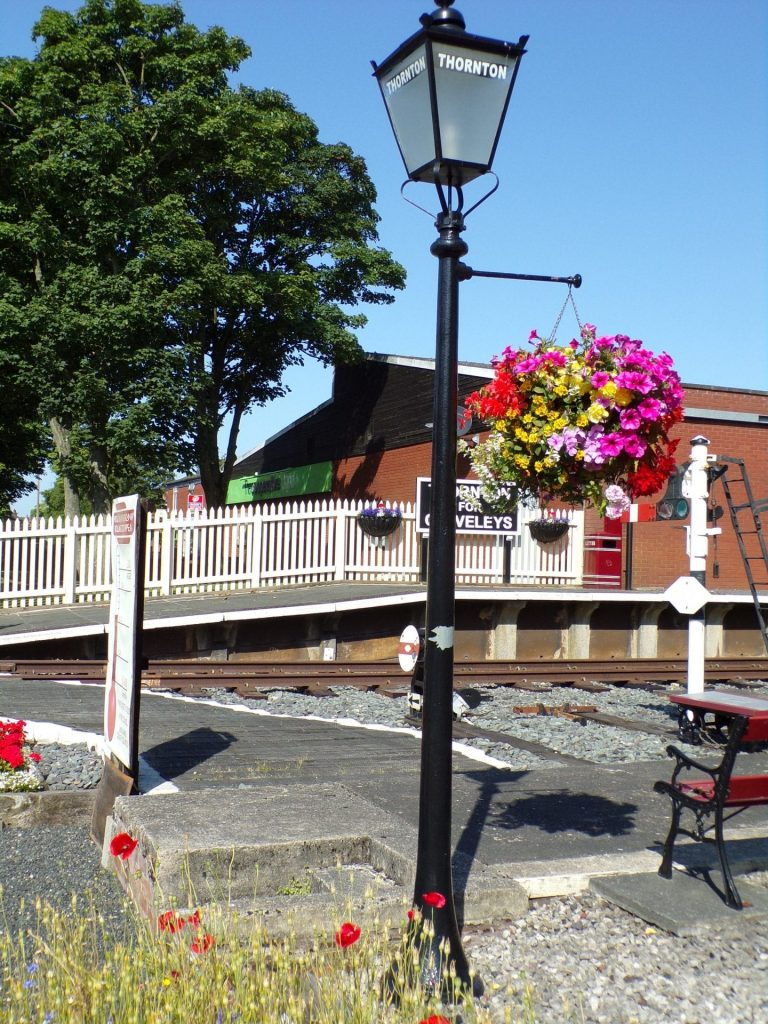 Replaced lamp at Thornton Station, with the help of Poulton and Wyre Railway Society