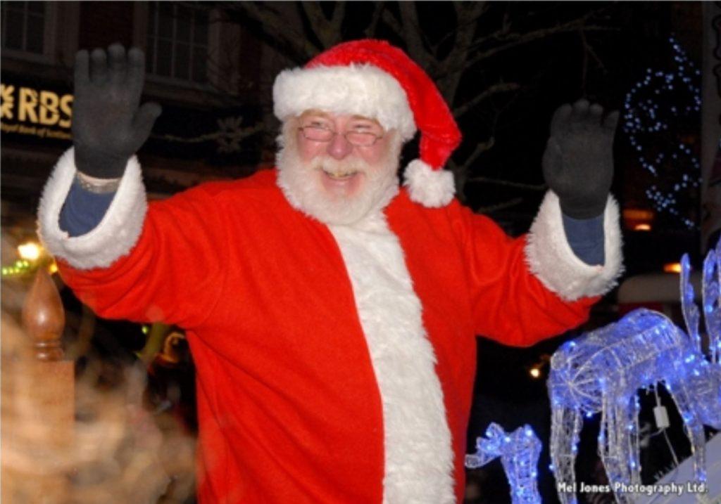 Santa at Poulton Christmas Festival