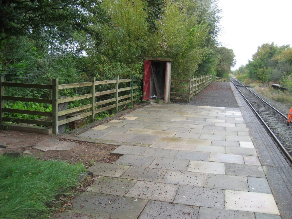 New platform at Burn Naze after the work of Poulton and Wyre Railway Society