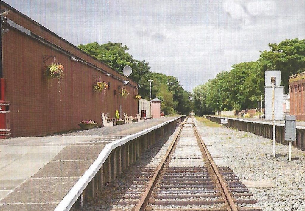 Thornton Station after clearing by Poulton and Wyre Railway Society