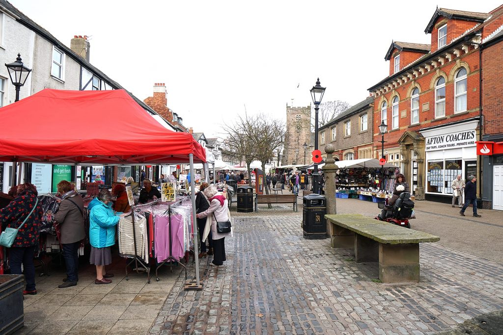 Market Square in Poulton Town Centre
