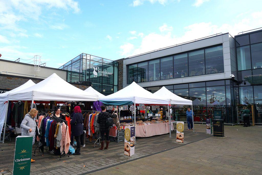 Poulton Market outside the Teanlowe Centre in Poulton